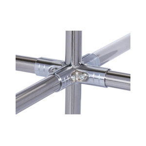 AIWIN 镀铬接头 HJ-5D 金属材质 适用于五根柔性管组合成三维90°结构 1套