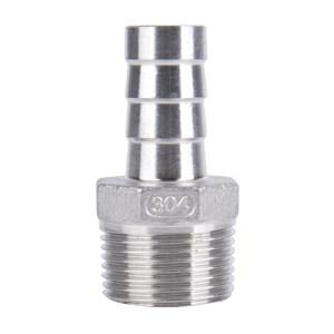 """RG/锐阁 304不锈钢宝塔接头 1/4""""-φ10 胶管内径10mm BSPT(ZG)螺纹1/4"""" 1只"""