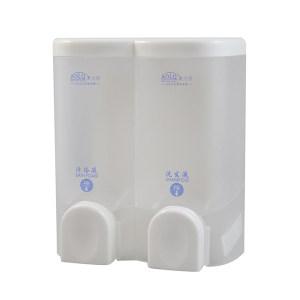 AOLQ/奥力奇 双头皂液器 BQ-6902 2×300mL 透明 1个