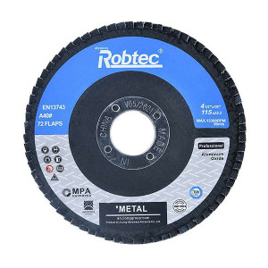 ROBTEC 诺克网基煅烧刚玉百页轮 T27-100×16-40# 22×17 72页 标准型 1片