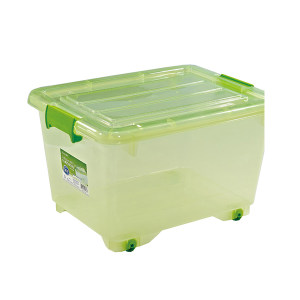 CHAHUA/茶花 透明塑料收纳箱 2825 34×45.4×58cm 颜色随机发货 55L 1个