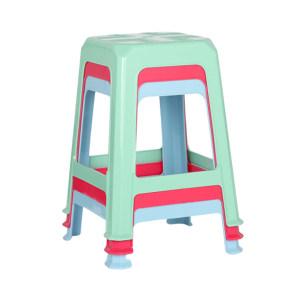 CHAHUA/茶花 塑料方凳 0823 35.6×35.6×45.2cm 颜色随机 1个