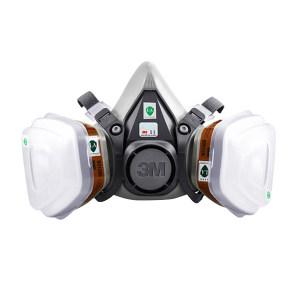 3M 6000系列呼吸防护套装 620P 含6200面罩×1个+6001CN虑盒×2个+5N11CN虑棉×2片+501虑棉盖×2个 1套