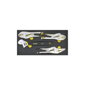 STANLEY/史丹利 EVA工具托组套-4件大力钳及活动扳手 90-037-23 1套
