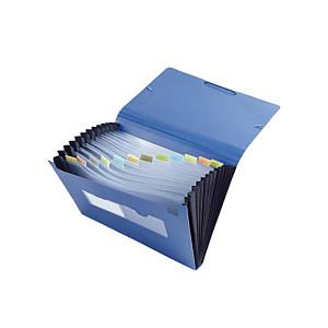 COMIX/齐心 易分类松紧带式风琴包 F4302 蓝色 1个