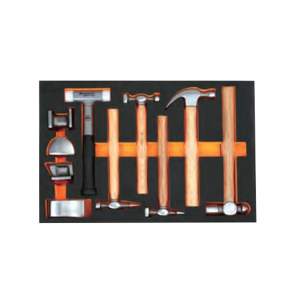 SHEFFIELD/钢盾 11件锤子类工具托组套 S025050 1套