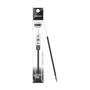 DELI/得力 子弹头中性笔芯 S760 0.5mm 黑色 20支 1盒