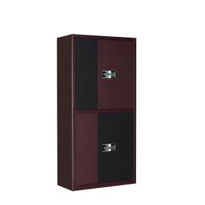 DT/迪团 皮纹双节保密柜(密码锁) BM-003-黑框红门 900*420*1850mm 黑框红门 1台