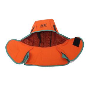 AP/友盟 橙红色阻燃布全护式焊帽 6671 均码 绿色边 1顶