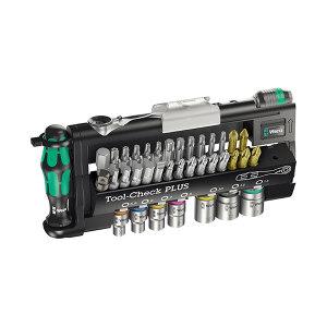 """WERA/维拉 Tool-Check PLUS批头棘轮扳手组套 05056490001 1×1/4""""×87.0mm 1套"""