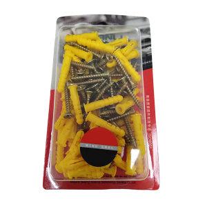 MJL/美坚利 塑料胀塞 PP+碳钢 黄色 M10×50 1盒