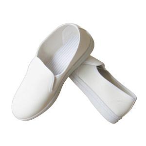 TABSUN/同花盛 PVC白皮革防静电中巾鞋 613-BG 44码 1双