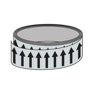 SIGN-EXPERT/标识专家 管道流向箭头带(淡灰色) SMN50035 50mm*33m 自粘性乙烯 1卷