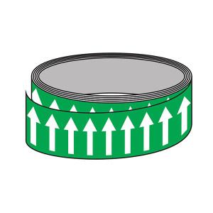 SIGN-EXPERT/标识专家 管道流向箭头带(艳绿色) SMN50033 50mm*33m 自粘性乙烯 1卷