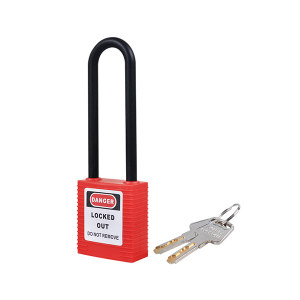 BOZZYS/博士 工程安全绝缘长梁挂锁 BD-G31-EB 红色 不同花(KD) 1个