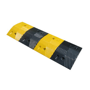 JSD/警士盾 C02加厚橡胶减速带 VSG-C02 980*330*48mm 含安装配件 最大承重10T 1块