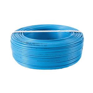 RONDA CABLE/朗达电缆 铜芯聚氯乙烯绝缘连接软电线 RV-300/500V-1×1 蓝色 100m 1卷