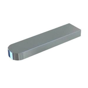 ZKH/震坤行 GB1096-79 普通型平键-C型 碳钢Q235 本色 340352004000400000 4×4×25 C型 1百个