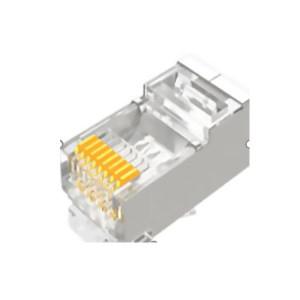 SAMZHE/山泽 工程级六类千兆网络屏蔽水晶头RJ45网线8P8C网线接头FTP铜壳 PB6010 10个/盒 1盒