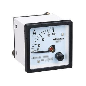 DELIXI/德力西 99T1系列安装式指针仪表 99T1 电流表 150/5 过载2倍 1个