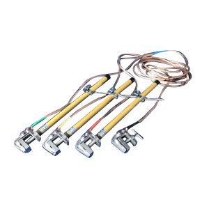 KERUI/科锐 10kV接地线-1米手握母排接地棒+25mm2软铜线(3*1米+1*5米)+地卡+1.2米高不锈钢绕线架 JDX-NS-10kV 10kV 1套