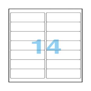 ANEOS/安内斯 透明打印标签 A7563-20 99.1×38.1mm 20张 1本