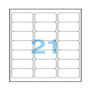 ANEOS/安内斯 透明打印标签 A7560-20 63.5×38.1mm 20张 1本