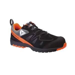 DELTA/代尔塔 运动款反绒皮安全鞋 301338 43码 橙黑色 防砸防刺穿防静电耐高温 橡胶大底 1双