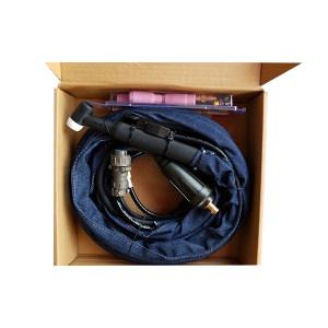 GLODEN GLOBE/金球 4米气冷分体式氩弧焊枪 WP-26分体式 线长4m 主电缆是70平方的快插 气接头是M12的内螺母 航空插是7芯航空插 1套