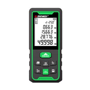 "SNDWAY/深达威 测距仪 SW-100G 0.05~100m 绿光 ±1.5mm 850mAH锂电池和干池双供电 语音播报 电子水平泡 2.2""大屏 30笔存储 1台"