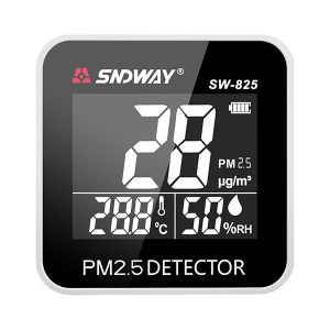 SNDWAY/深达威 便携PM2.5检测仪 SW-825 PM2.5 PM10 PM1测量:0-500ug/m³ 温湿度测量 报警功能 高清反显屏 1台