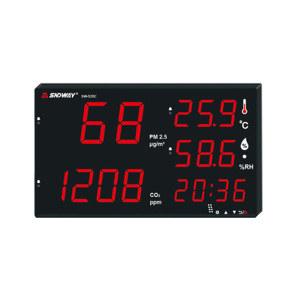 SNDWAY/深达威 壁挂五合一环境检测仪 SW-535C 二氧化碳 PM2.5 温度 湿度 时间五合一环境测量仪 1台