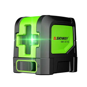 SNDWAY/深达威 激光水平仪 SW-311G 2线 505绿光 整平/垂直精度±3mm/10m 安平范围:±4° 工作距离15M AA电池*2 简易支架 布包 1台