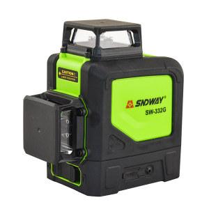 SNDWAY/深达威 激光水平仪 SW-332G 2D8线 515绿光 整平/垂直精度±3mm/10m 安平范围:±4° 工作距离20M 5200mah锂电池 上墙支架 布包 1台