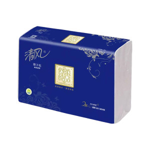 BREEZE/清风 舒柔纯品(银装)双层DECO压花擦手纸 B911A2W 225×230mm 150张×20包 1箱