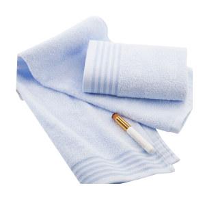 KING SHORE/金号 纯棉毛巾家纺提缎面巾 G1734 34×72cm 蓝色 100%纯棉(缎档及装饰部分除外) 1条