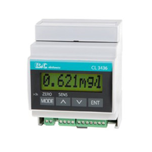 B&C/匹磁 余氯/臭氧变送器 CL3436 0~2.000PPM-mg/L 0~20.00PPM-mg/L 0~200.0PPM-mg/L 1台