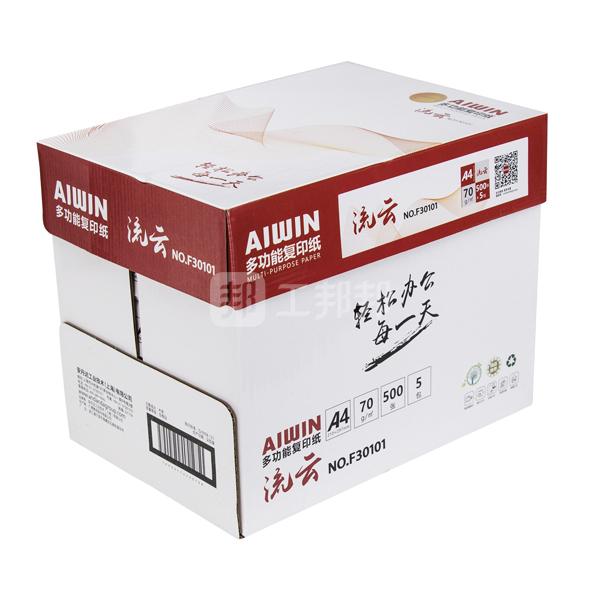 AIWIN A4复印纸 F30101 70g 白色 500张×5包 1箱