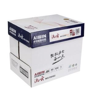 AIWIN A4复印纸 F30102 80g 白色 500张×5包 1箱