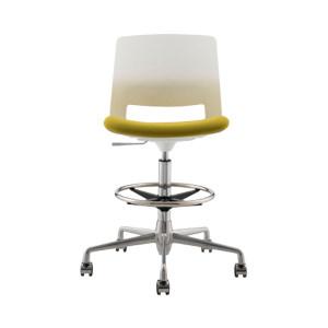 JIDA/集大 英路华系列职员椅 JDESN-007C圆盘高脚椅 产品尺寸480×480×950~1195mm 1把