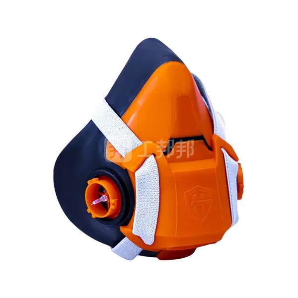 HAIGU/海固 自吸过滤式半面具 HG-602 黑橘 不含滤材 1个