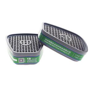 HAIGU/海固 HG-ABS-K型4号滤毒盒 P-K-1 防护氨气 适配海固半面具 1对