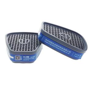 HAIGU/海固 HG-ABS-H2S型8号滤毒盒 P-H2S-1 防护硫化氢 适配海固半面具 1对