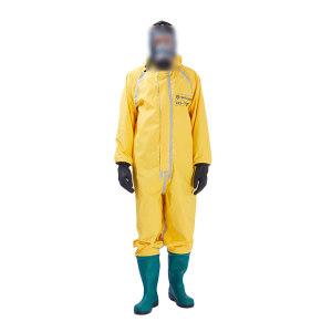 HAIGU/海固 外置一级连体半封闭防化服 HG-1WP 2XL 含防化胶靴及手套 黄色/宝蓝色/桔色/绿色随机发货 1套