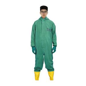 HAIGU/海固 外置二级连体半封闭防化服 HG-2WP 2XL 含防化胶靴及手套 黄色/深蓝色/桔色/绿色随机发货 1套