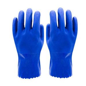 ANSEN/安森 PVC耐油手套 PC580 XL 蓝色 1副