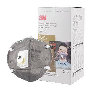 3M 折叠式有机蒸气异味及防颗粒物口罩 9541V KN95 耳戴式 带阀 1个