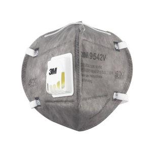 3M 折叠式有机蒸气异味及防颗粒物口罩 9542V KN95 头戴式 带阀 1个